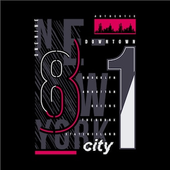 Ilustracja graficzna typografii nowego jorku do druku t shirt