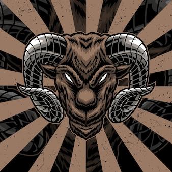 Ilustracja grafika koza