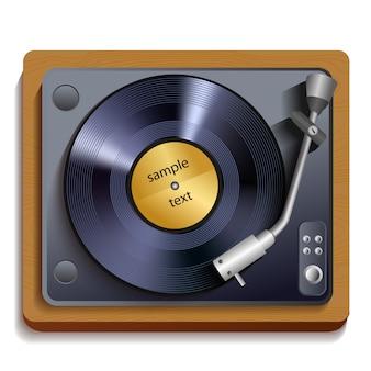 Ilustracja gramofon winylowy
