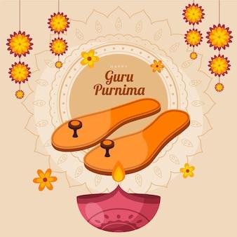 Ilustracja guru purnima