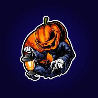 Ilustracja halloween jack o lantern