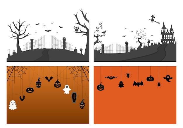 Ilustracja halloween night party