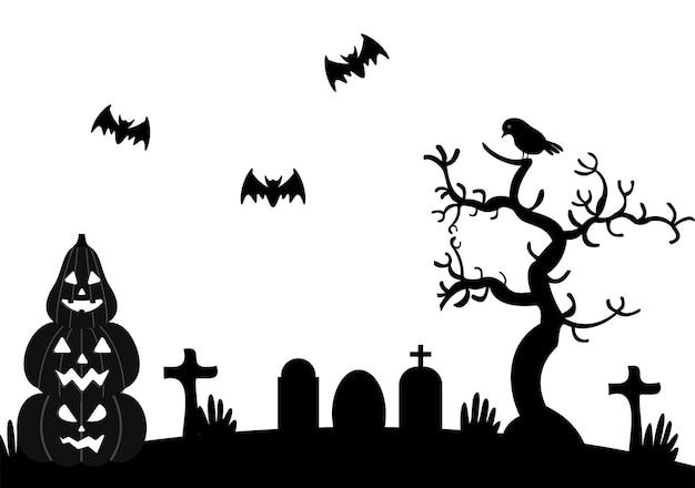 Ilustracja Halloween Night Party Premium Wektorów
