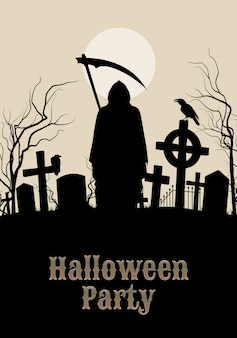 Ilustracja halloween party