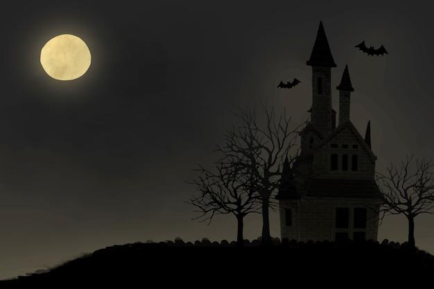 Ilustracja halloweenowy o temacie tło