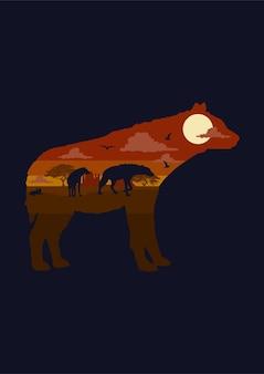 Ilustracja hieny