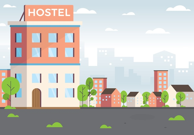Ilustracja hostelu