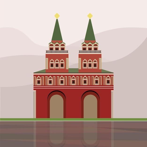 Ilustracja iberyjska brama i kaplica