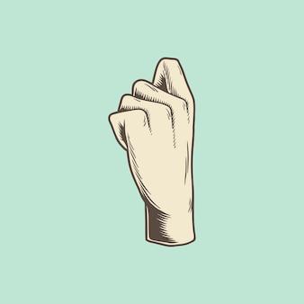 Ilustracja ikona gest dłoni