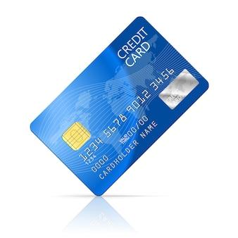 Ilustracja ikona karty kredytowej na białym tle