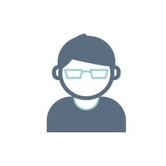 Ilustracja ikony awatar użytkownika