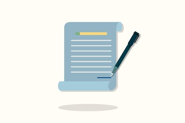Ilustracja ikony dokumentu