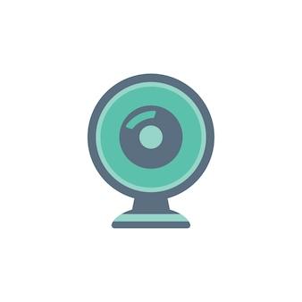 Ilustracja ikony kamery internetowej