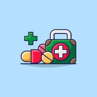 Ilustracja ikony koncepcja pierwszej pomocy