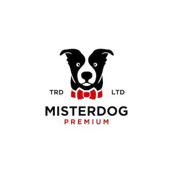 Ilustracja ikony logo mistrza psa