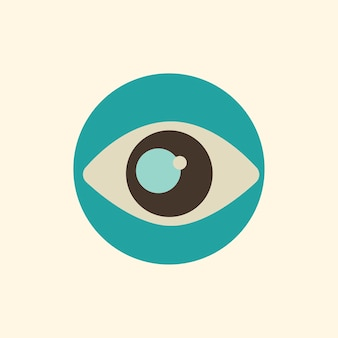 Ilustracja ikony oka