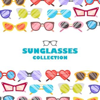 Ilustracja ikony okularów przeciwsłonecznych w tle