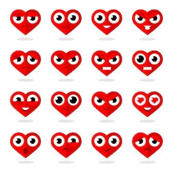 Ilustracja ikony serca emotikony, format eps 10