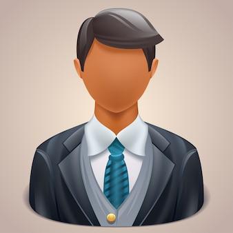 Ilustracja ikony użytkownika biznesmen
