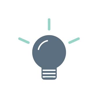 Ilustracja ikony żarówki
