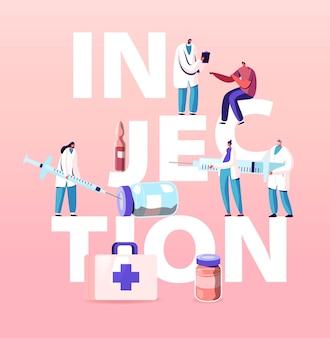 Ilustracja ilustracji szczepień w opiece zdrowotnej