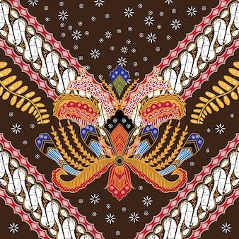 Ilustracja indonezyjski batik