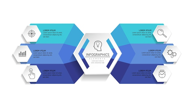 Ilustracja Infografiki Projekt Szablonu Wykres Prezentacji Informacji Biznesowych Premium Wektorów