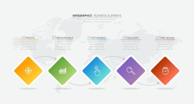 Ilustracja infografiki szablon projektu