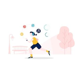 Ilustracja inteligentny trening w stylu płaski