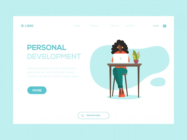 Ilustracja internetowa rozwoju osobistego