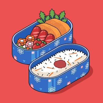 Ilustracja izometryczny bento box
