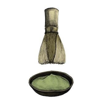 Ilustracja japoński ziołowy