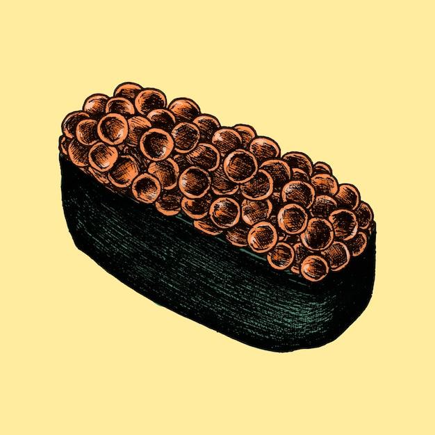 Ilustracja japońskiego jedzenia