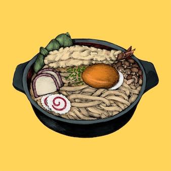 Ilustracja japońskiego naczynia