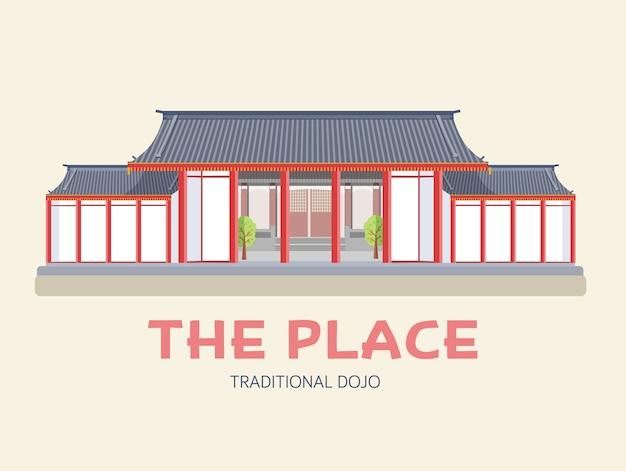 Ilustracja japońskiej architektury