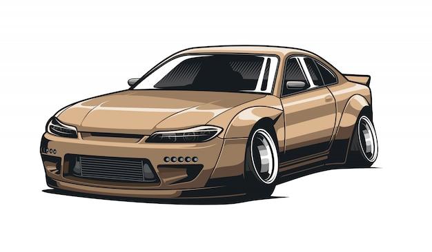 Ilustracja jdm sportu samochodowego