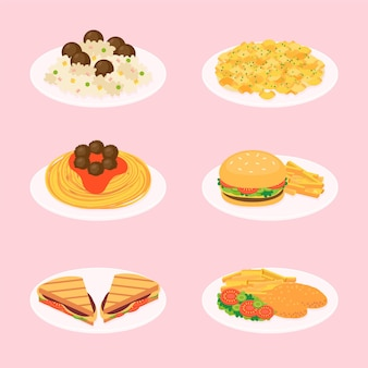 Ilustracja jedzenie komfort