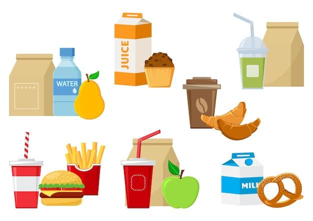 Ilustracja jedzenie obiad