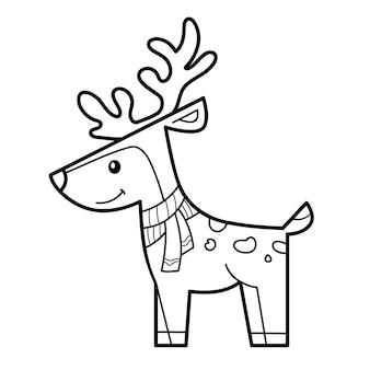 Ilustracja jelenia do kolorowania