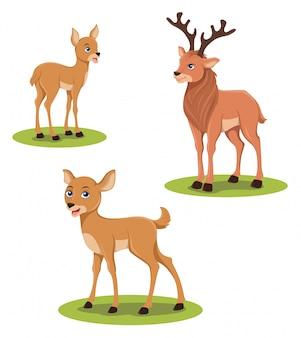Ilustracja jelenia i jelenia