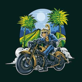 Ilustracja jeździec hanuman