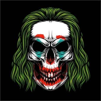 Ilustracja joker czaszki