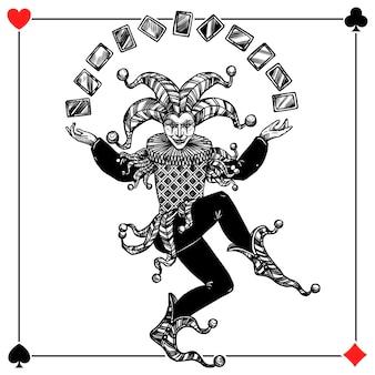 Ilustracja joker tła