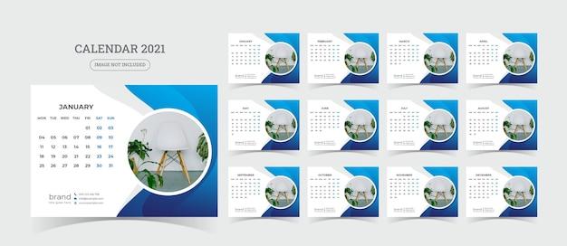 Ilustracja kalendarza biurko
