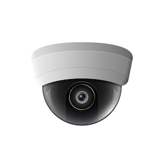 Ilustracja kamery bezpieczeństwa. sprzęt kontroli bezpieczeństwa. technologia ochrony kamery sufitowej. cctv zobacz wideo.