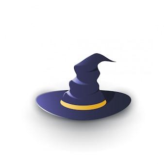 Ilustracja kapelusz czarownicy