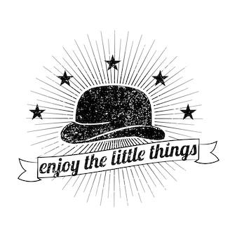 Ilustracja kapelusz mężczyzna logo