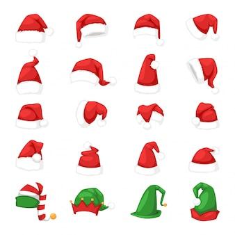 Ilustracja kapelusz świętego mikołaja.