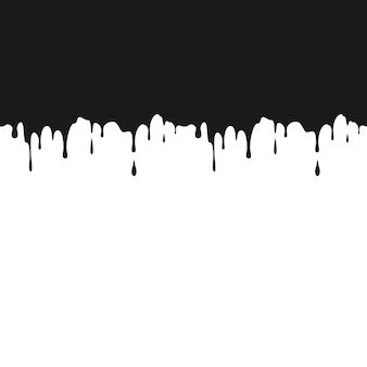 Ilustracja kapie czarny atrament