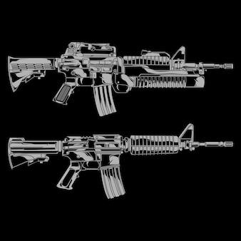 Ilustracja karabin amerykański pistolet